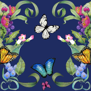 butterfly baroque blue