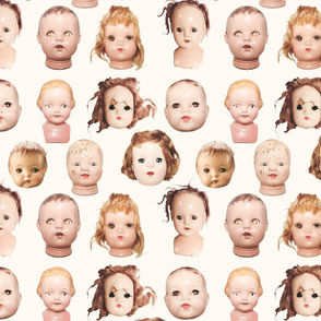 Doll heads print - Large