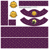 [Lati Yellow] OctoFabric with pattern - OctoPumpkin