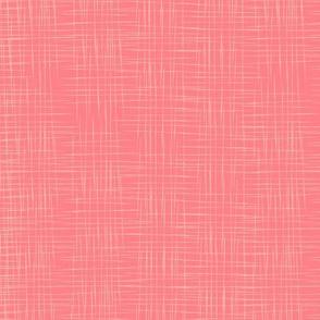 Faux Linen - Pink