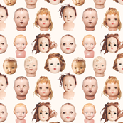 Doll heads print