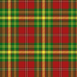 Leask tartan - yellow stripe