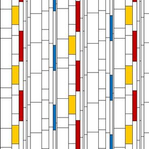Mondrian-inspired stripes - color