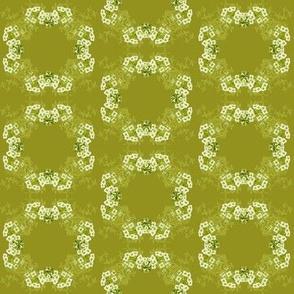 Flower Circle Green