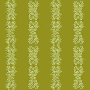 Flower Stripe Green