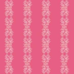 Flower Stripe Pink