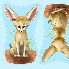 Fennec Fox cut and sew stuffed toy