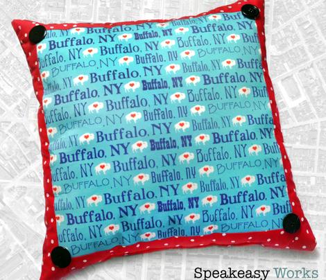 Buffalo, NY (Teal and Navy)