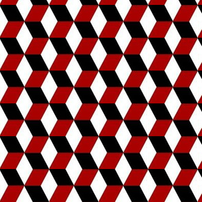 Red, white, and Black Cubes
