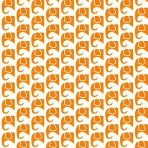 SMALL Elephants Orange