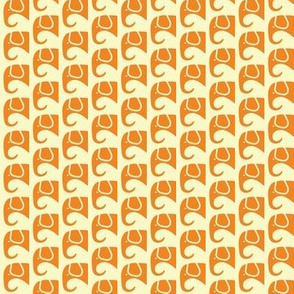 SMALL Elephants Orange Creme