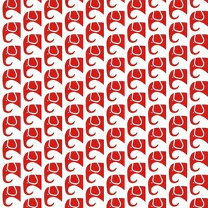 SMALL Elephants Deep Red