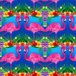 twin_flamingoes