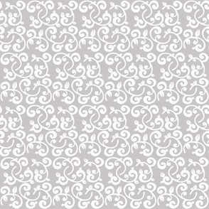 Gray Background Floral Vines