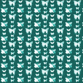 watercolour butterflies red turquoise