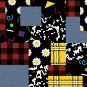 90's Patchwork Fabric