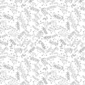 Baby Text Neutral Grey on White