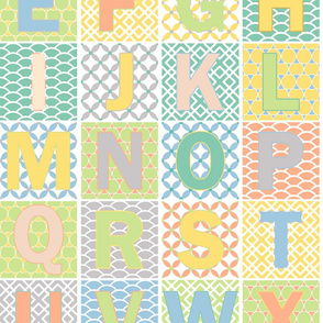 Alphabet Time in Pastel Colors