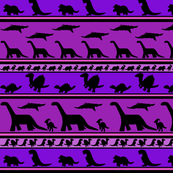 Dinosaur stripes purples