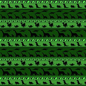 Dinosaur stripes greens small
