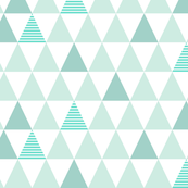 Mint Striped Triangles