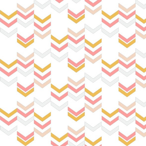 Coral Gold Chevron