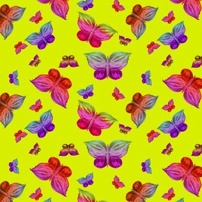 BUTTERFLIES EXOTIC JUNGLE Green Small