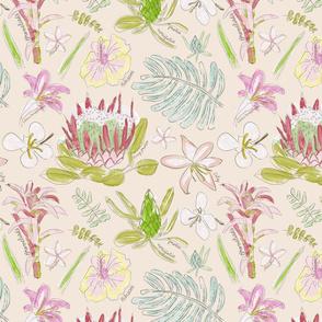 Botanical Sketchbook of Maui Florals