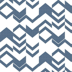 Canvas Denim Blue Chevron