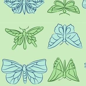 Butterflies Linework