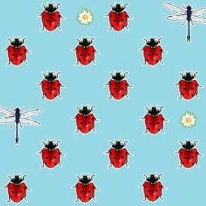 Ladybugs and Dragonflies