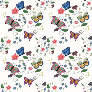 Butterfly Floral Small