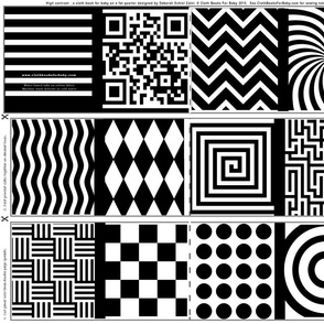 High contrast abstract shapes for baby