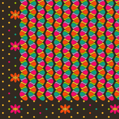 ZigZag Drops, Dots and Jelly Beans Cheater Quilt