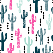 cactus magenta mint navy patterned trendy southwest cactus trend for kids clothes