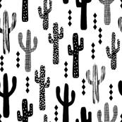 cactus black and white trendy grid tri triangle minimal scandi scandinavian tropical trendy black and white kids clothes decor nursery
