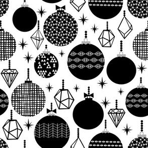 black and white trendy xmas grid holiday ornaments kiddo scandi black and white style
