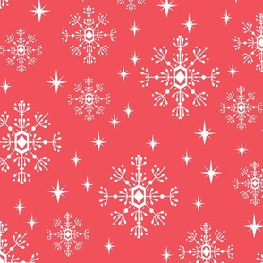 snowflakes red christmas inter holiday