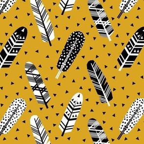 feathers mustard