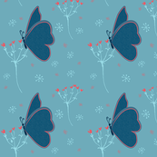 Coral and Navy butterfly coordinates