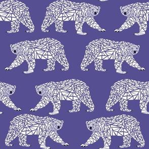 geometric polar bear - purple