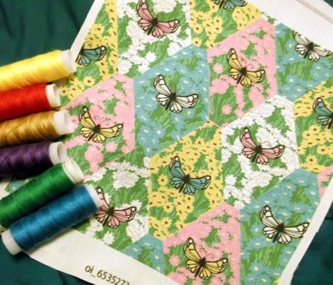 Spring Flower Butterfly Tile