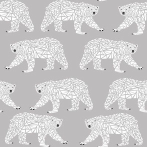 geometric polar bear grey