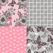 Butterflies in a Sunny Garden Coordinates Set