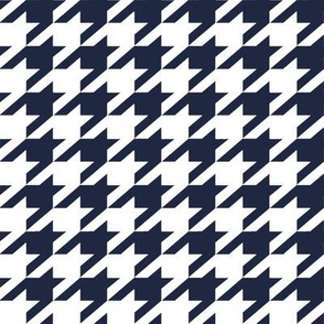 Holmes Houndstooth in atlantic and white