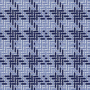 Watson Weave in atlantic and ink