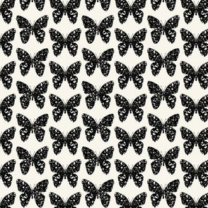 Black and off-white butterflies, spacey by Su_G