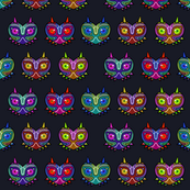 Scary Mask Fabric Dark Background