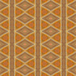 Orange and Brown Tribal Stripes