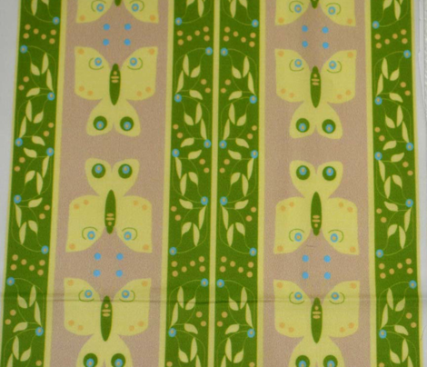 Butterfly Vine Stripe green